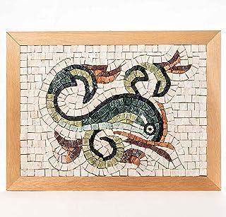 Idea Regalo Originale: Delfino - Kit mosaico fai da te - 32x23 cm - tessere di mosaico in marmi policromi selezionati di O...