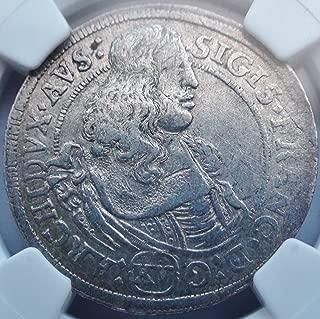 1664 AT Austria Austrian Hall 15 Kreuzer Silver Coin 15 Kreuzer VF30 NGC