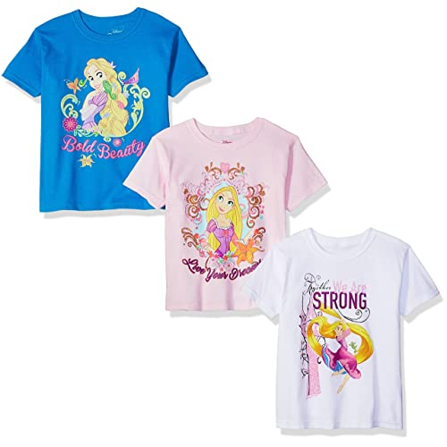 9a28dfcb Disney Girls' Rapunzel Tangled 3-Pack Short Sleeve Graphic T-Shirt