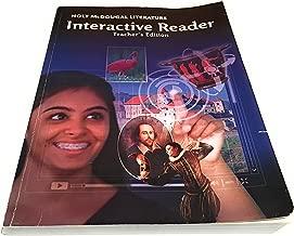 Holt McDougal Literature: Interactive Reader Teacher's Edition Grade 9