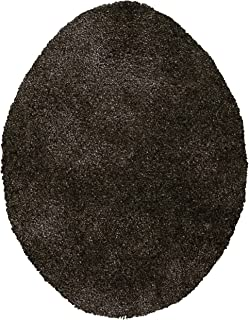 Maples Rugs Toilet Lid Cover-Colorsoft Soft Washable Elongated Seat Rug [Made in USA] Non Slip & Quick Dry for Bathroom, Chocolate Nib