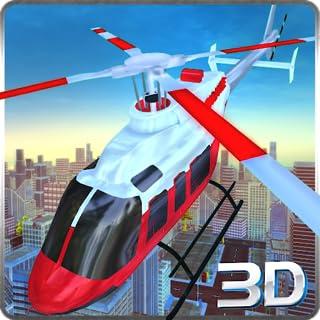City Police Helicopter Simulator 3D: sauvetage des patients en opération de simulation de vol de l'ambulance aérienne 911 2018