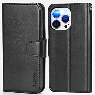 Migeec Compatible with iPhone 13 Pro Max Case with RFID Blocking Card Holder Phone Stand Wallet Case Cover for iPhone 13 P...