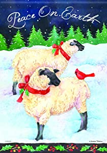 Carson Home Accents Holiday Sheep Trends Classic Large Flag