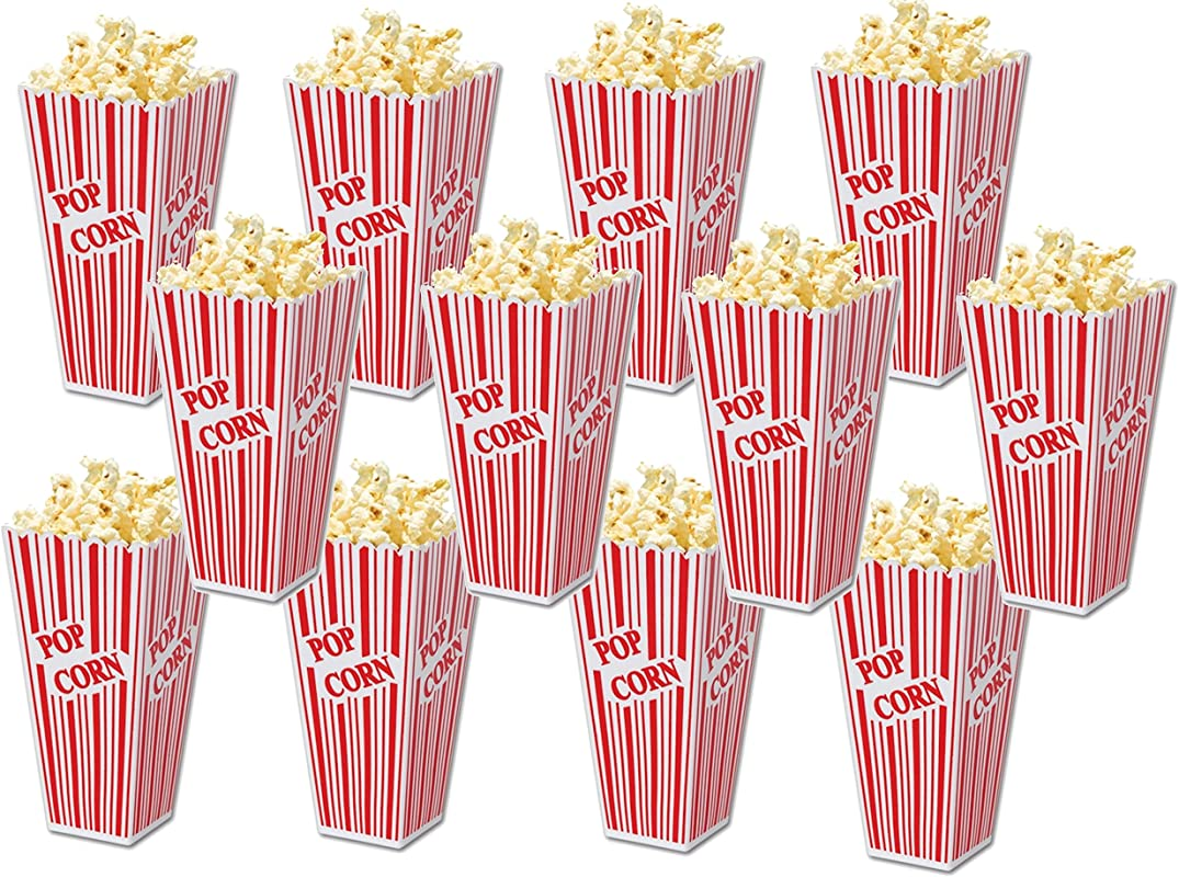 Family Home Popcorn Plastic Container Box Tub Bowl Set Of 12