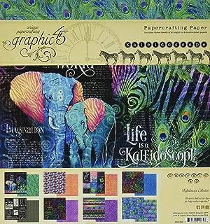 Graphic 45 4501855 Kaleidoscope 8x8 Pad Craft Paper, Multi