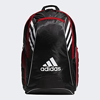 adidas Unisex Tour Tennis Racquet Backpack, Black/White/Scarlet, ONE SIZE