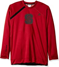adidas NCAA North Carolina State Wolfpack Mens On Court L/S Shooting Shirton Court L/S Shooting Shirt, Power Red, Large