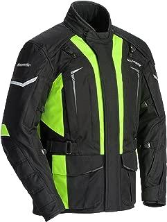 TourMaster Men's Transition Series 5 Jacket (Black/Hi-Viz, Large)
