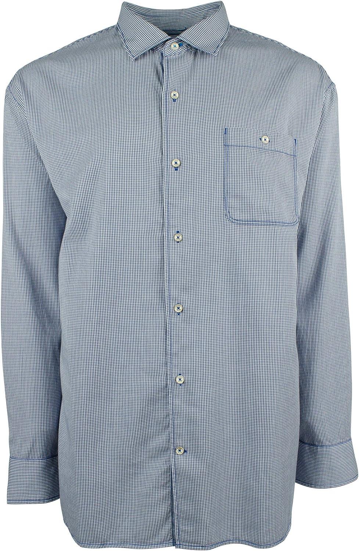 Tommy Bahama Men's Big & Tall Long Sleeve Twill Check Shirt
