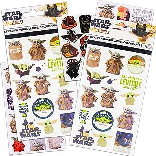 Disney Shop Star Wars Mandalorian Sticker Set Baby Yoda Merchandise - 8 Sheets of Mandalorian Decoration Baby Yoda Sticker...