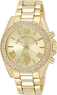 U.S. Polo Assn. Women's Quartz Watch, Analog Display and Gold Plated Strap USC40036