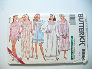 Butterick Sewing Pattern 5854 Vintage Nightgowns SZ P-S-M