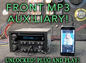 Unlocked Chevy GM GMC CD Radio w MP3 Auxiliary AUX Input w Cable 03 04 05 06 Avalanche S-10 Envoy Escalade Colorado Canyon Part Nos 15234915 15234929 15138488 15756188 DISC Stereo