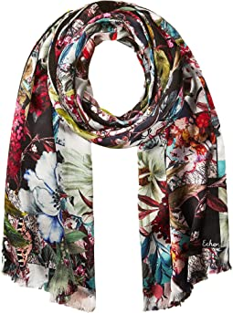 Echo Design - Floral Patchwork Double-Faced Scarf Wrap