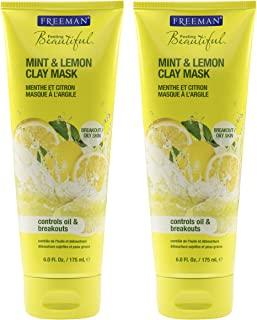 Freeman Feeling Beautiful Mint & Lemon Clay Mask, 6-Ounce, 2 Count
