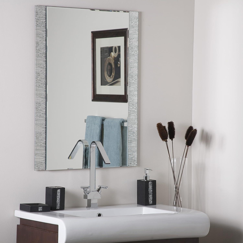 DecorWonderland Frameless Molten Wall Mirror