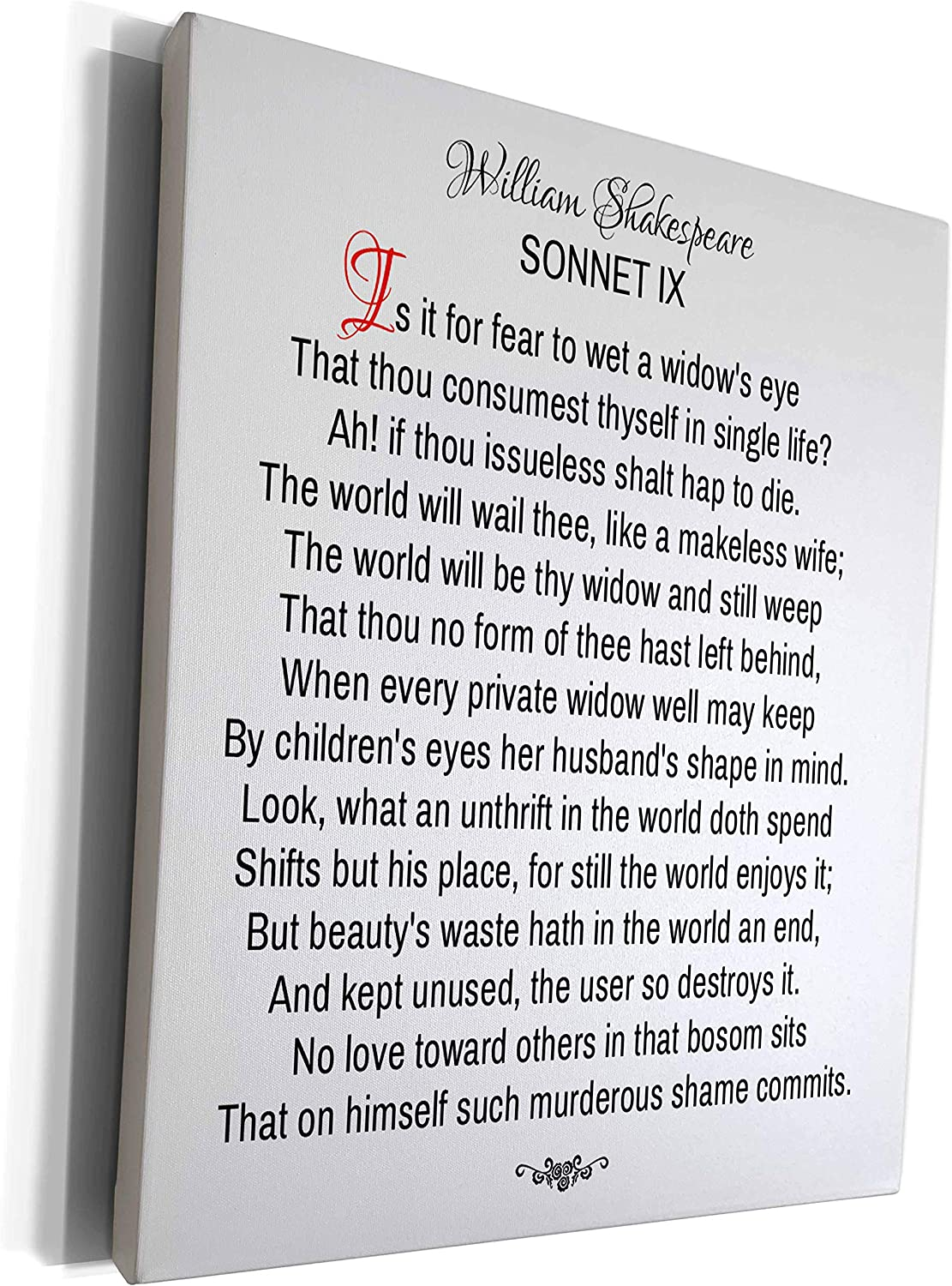 3dRose Alexis Colorado Springs Mall Design - Limited time for free shipping Poetry Sonnets 9. Shakespeare Is Sonnet