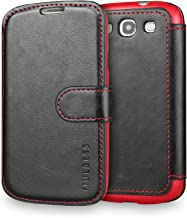 Galaxy S3 Case Wallet,Mulbess [Layered Dandy][Vintage Series][Black] - [Ultra Slim][Wallet Case] - Leather Flip Cover with Credit Card Slot for Samsung Galaxy S3 III i9300