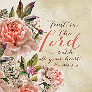Urban House Design Inspirational Canvas Wall Art- Trust in The Lord, Proverbs 3:5