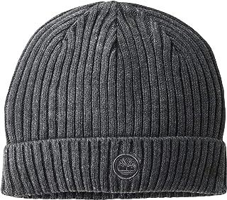 قبعة رجالي من Timberland مضلع مع رقعة شعار مطرزة بشعار الطقس البارد