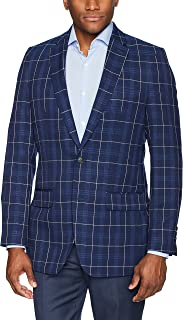 Haggar Men's Plaid Fancy Tailored Fit 2-Button Side Vent...