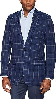 Men's Plaid Fancy Tailored Fit 2-Button Side Vent Sport Coat
