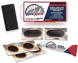 RocRide 8 PC Bike Inner Tube Patch Kit. Bicycle Tire Repair Kit.