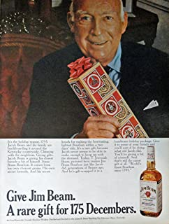 Jim Beam Whiskey, Print Ad. 60's full page color Illustration, 10 1/4