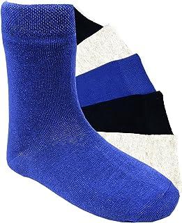 Calcetines para niños cosidos a mano, 6 pares, para niñas o niños, algodón suave, varios colores, talla 19-42.