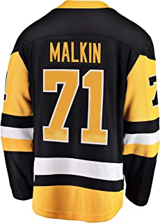 Outerstuff Evgeni Malkin Pittsburgh Penguin #71 Black Yellow Home Infants Toddler Premier Jersey