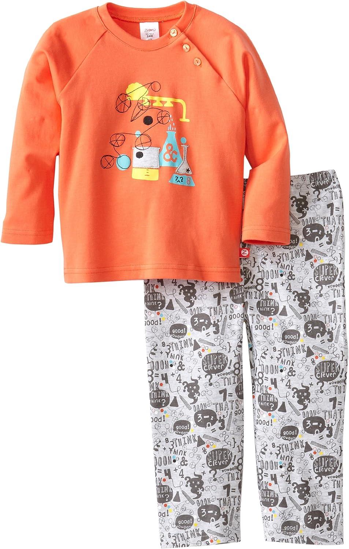 Zutano Baby Boys Chemistry Applique Shirt and Pant Set