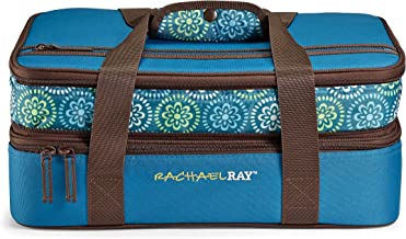 Rachael Ray Expandable Lasagna Lugger, Double Casserole Carrier for Parties - Fits two 9