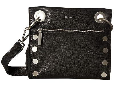 Hammitt Tony Small (Black/Brushed Silver) Cross Body Handbags