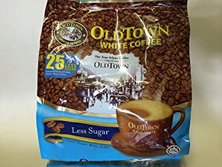 OLD Town (3 in 1)- Taste Premix White 25% Less Sugar Coffee- Don't Need Creamer & Sugar-make Your Life Easier - (35g - 40g) /Stick (25% Less Sugar), 525g (18.5 oz)