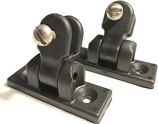 Vaughan Bros 180 Degree Bimini Universal Deck Hinge, Black Nylon, 1 Pair