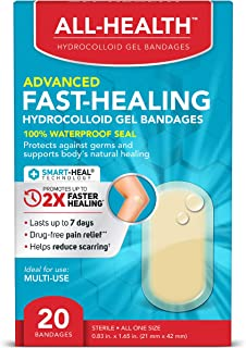 All Health All Health Advanced Fast Healing Hydrocolloid Gel Bandages, Regular 20 ct | 2X Faster Healing for First Aid Bli...