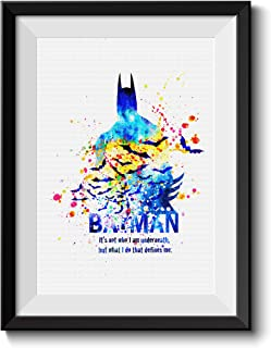 Uhomate Batman Superhero Room Decor Home Canvas Prints Wall Art Anniversary Gifts Baby Gift Inspirational Quotes Wall Decor Living Room Bedroom Bathroom Artwork C051 (11X14)