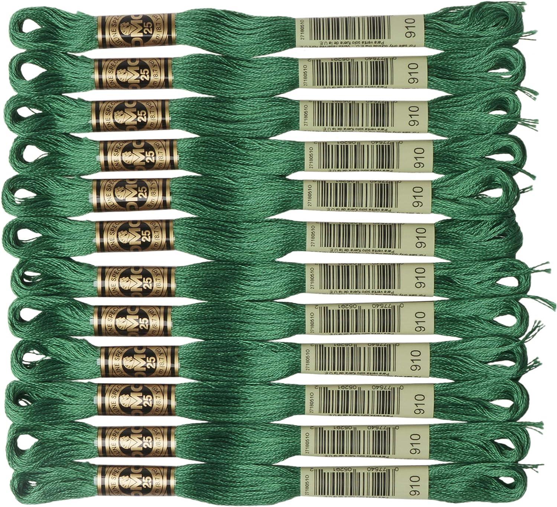 DMC 6-Strand Embroidery Cotton Floss Super intense SALE Dark Ranking integrated 1st place Emerald Green