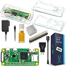 Vilros Raspberry Pi Zero W Basic Starter Kit- Clear Case Edition-Includes Pi Zero W -Power Supply & Premium Clear Case