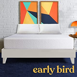 Early Bird Essentials 10-inch Medium Firm Cooling Gel Memory Foam Mattress, Comfort Body Support, Bed in a Box, CertiPUR-US Certified, Handcrafted in The USA, Twin