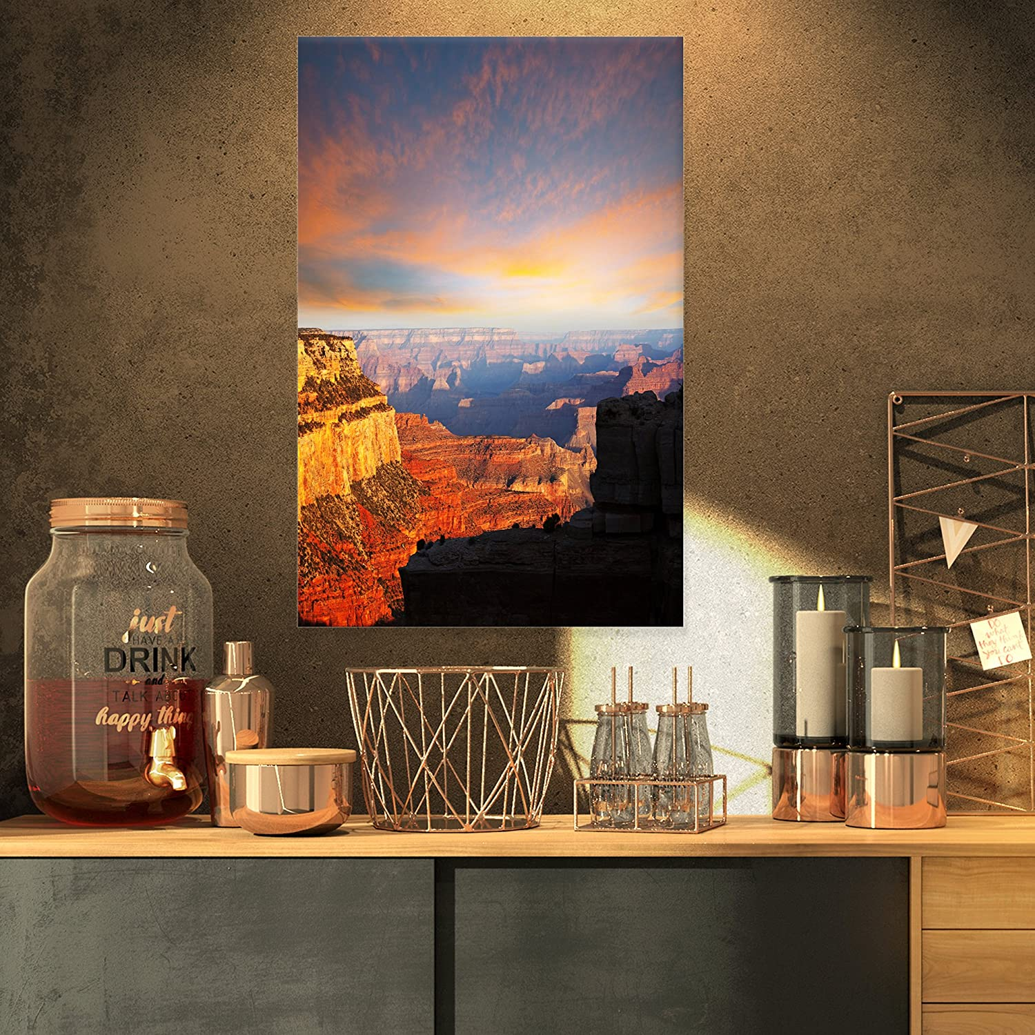 Design Art Oklahoma City Mall PT12733-40-30 Max 63% OFF Colorful Flooded Field Sunsetlandsca at