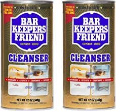 Bar Keepers Friend All-Purpose Cleaner & Polish 12 oz (Pack of 2), Packaging May Vary