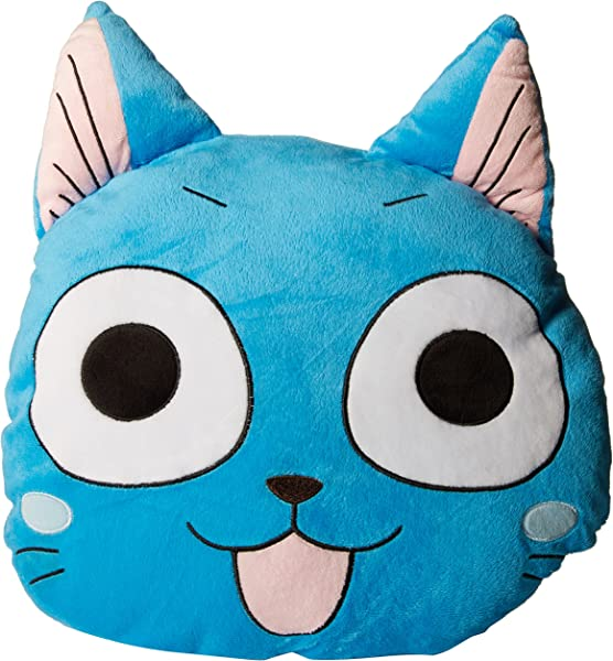 GE Animation 45757 Fairy Tail Multi Functional Happy Head Pillow Blanket Set