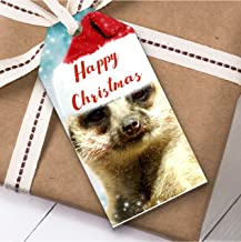Meerkat Christmas Gift Tags (Present Favor Labels)