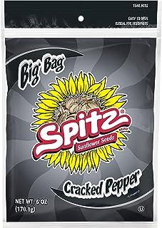 Spitz Cracked Pepper Flavored Sunflower Seeds, 6 oz Bag (Pack of 12)