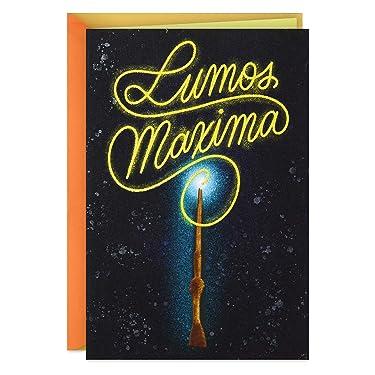 Hallmark Harry Potter Birthday Card, Fathers Day Card, Anniversary Card, Thank You Card (Lumos Maxima)