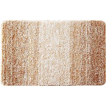 Aonewoe Alfombra Multifuncional Antideslizante 40 x 60cm Microfibra Alfombra de baño Marrón