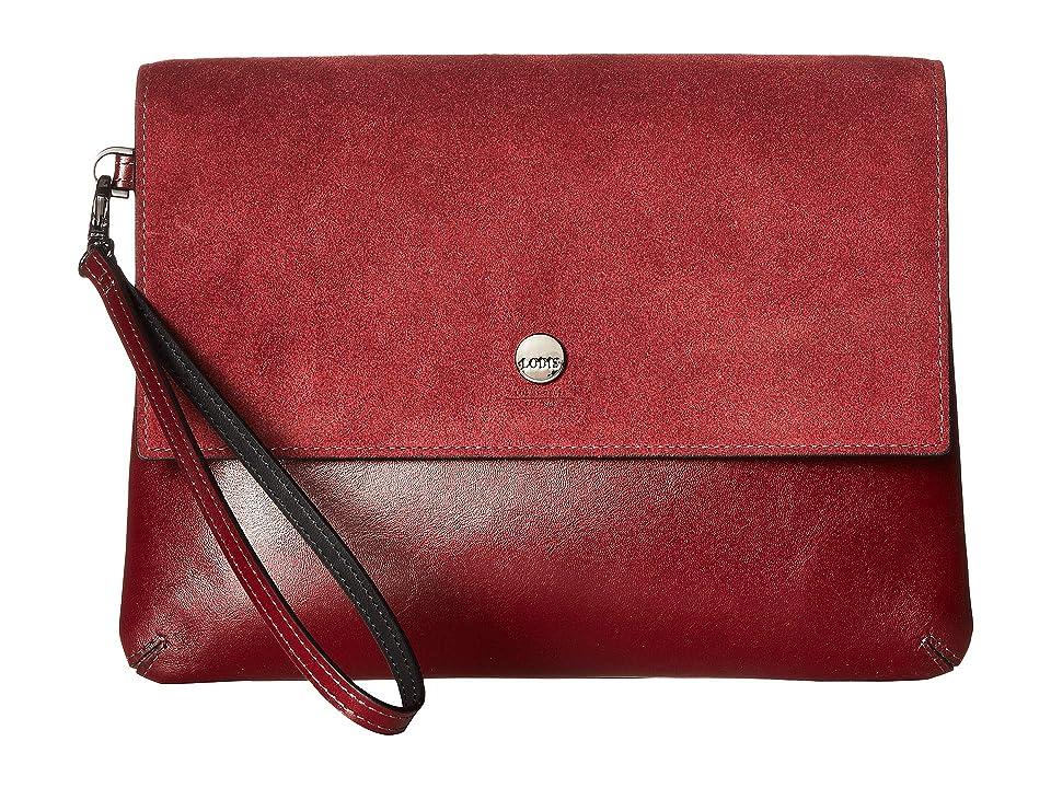 Lodis Accessories Wiltern RFID Raven Double Pouch Wristlet (Oxblood) Wristlet Handbags