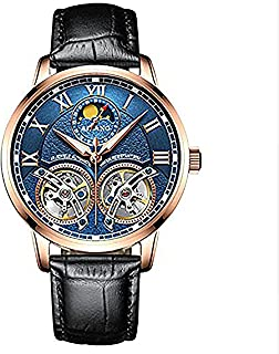 WhatsWatch AILANG Luxury Men's Watches Automatic Double tourbillon Leather Waterproof Sapphire Crystal -224